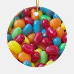 Colorful Jellybeans Ceramic Ornament