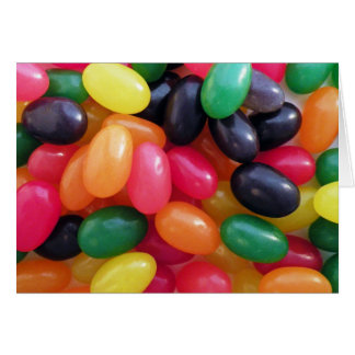 Colorful Jellybeans Greeting Card