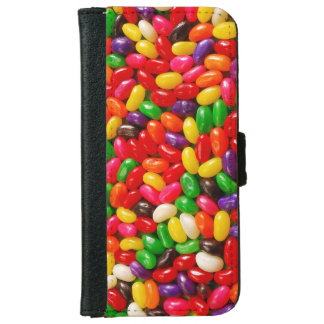 Colorful jellybeans print iphone wallet case
