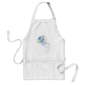 colorful jellyfish adult apron