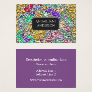 Colorful Jewel Glass - Customize & Choose Color of Business Card