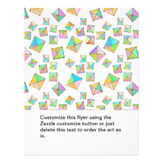 Colorful jewel toned summer colors abstract art flyers