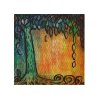Colorful Jewel Tree and Leaves Wall Art