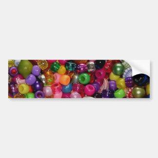 Colorful Jewelry Beads Bumper Sticker