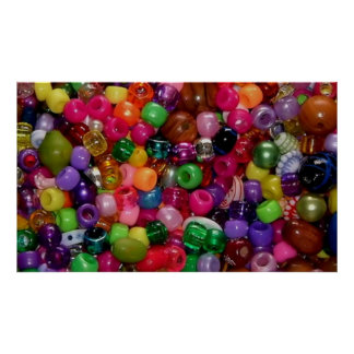 Colorful Jewelry Beads Poster