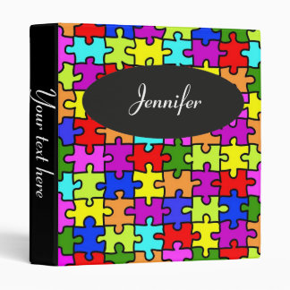 'Colorful jigsaw puzzle' binder