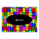 'Colorful jigsaw puzzle' greeting card