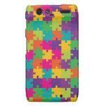 Colorful Jigsaw Puzzle Pattern Droid RAZR Case