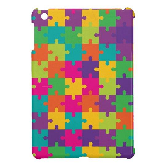 Colorful Jigsaw Puzzle Pattern iPad Mini Cover