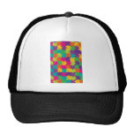 Colorful Jigsaw Puzzle Pattern Mesh Hats