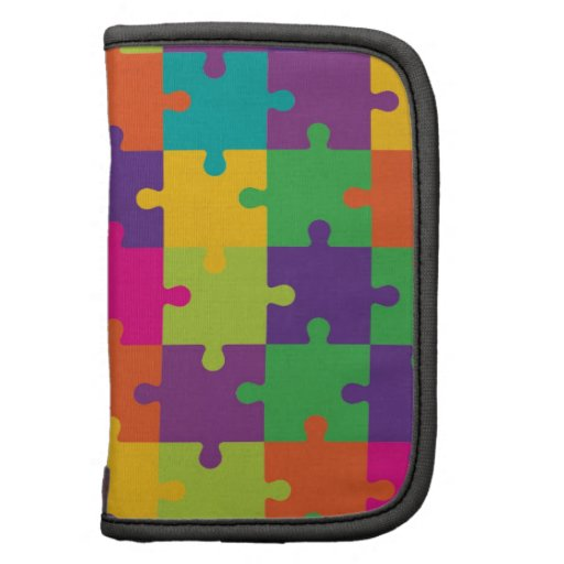 Colorful Jigsaw Puzzle Pattern Planners
