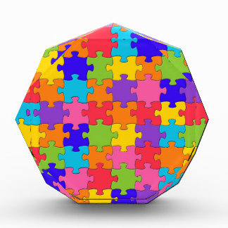 Colorful Jigsaw Puzzle Pieces Happy Puzzler Award