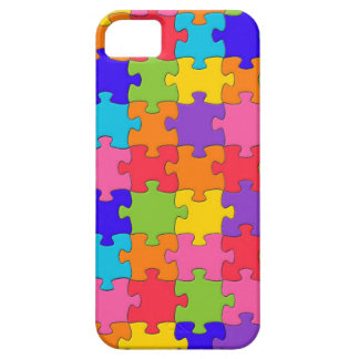 Colorful Jigsaw Puzzle Pieces Happy Puzzler iPhone SE/5/5s Case