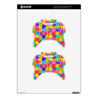 Colorful Jigsaw Puzzle Pieces Happy Puzzler Xbox 360 Controller Decal