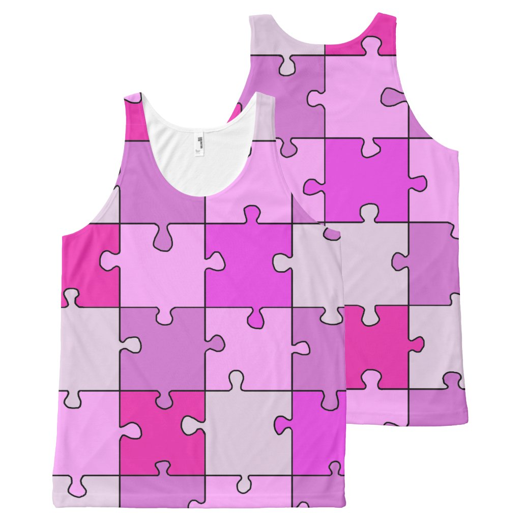 Colorful Jigsaw Puzzle Pink Pieces