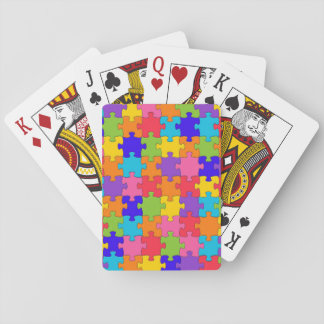 Colorful Jigsaw Puzzle Playing Cards