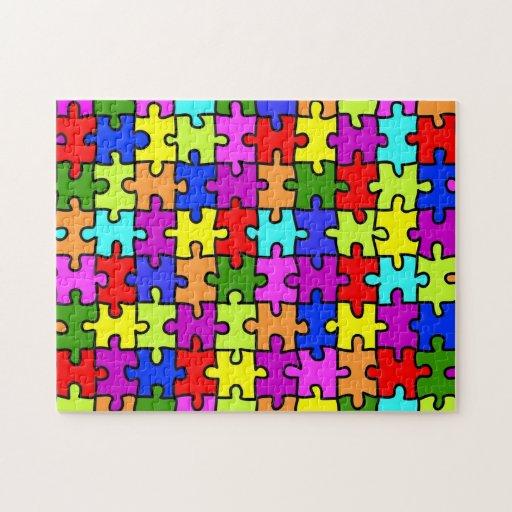 'Colorful jigsaw puzzle' puzzle | Zazzle