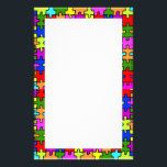 "&#39;Colorful jigsaw puzzle&#39; stationery<br><div class=""desc"">colorful jigsaw puzzle texture on stationery</div>"