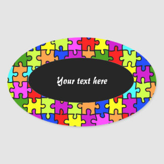 'Colorful jigsaw puzzle' stickers