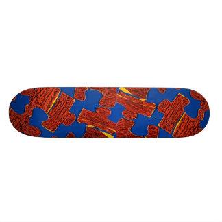 Colorful Jigsaw Skateboard