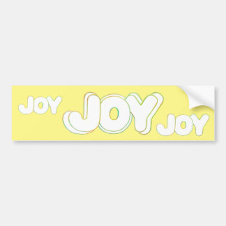 Colorful Joy Word bumper stickers