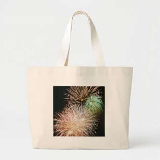 Colorful July 4th Fireworks Large Tote Bag