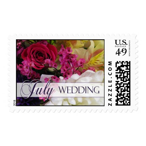 Colorful July Wedding Stamps