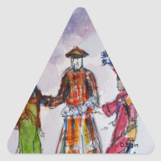 Colorful Jumbies Triangle Sticker