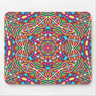 Colorful jumble Mandala Mouse Pad