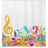 Colorful Jumbled Musical Notes 3