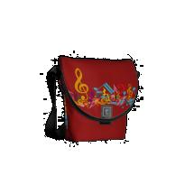 Colorful Jumbled Musical Notes Messenger Bag