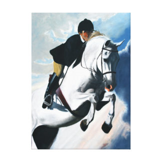 Colorful Jumping Horse Canvas Print