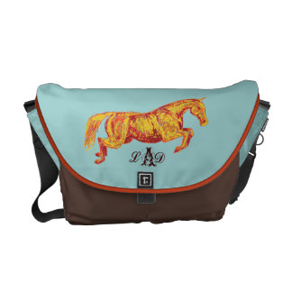 Colorful Jumping Horse Courier Bag