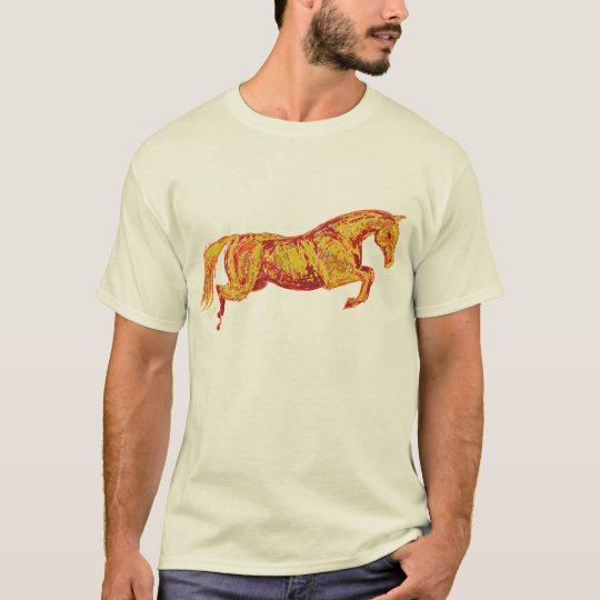 Colorful Jumping Horse T-Shirt