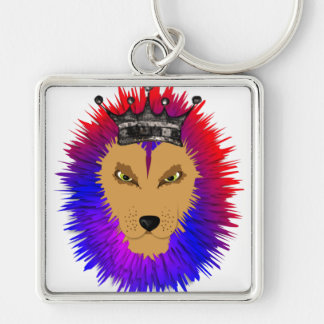 Colorful Jungle king Lion Keychain