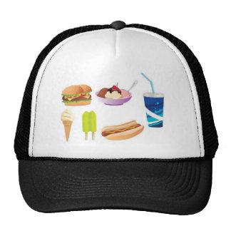 Colorful junk food design trucker hat
