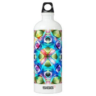 Colorful Kaleidoscope Aluminum Water Bottle