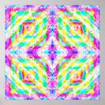Colorful Kaleidoscope Art Poster Print