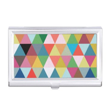 Professional Business Colorful Kaleidoscope Business Card Holder