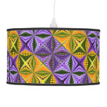 Colorful kaleidoscope ceiling lamps
