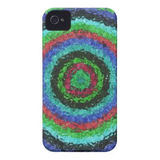Colorful kaleidoscope circle pattern Case-Mate iPhone 4 case