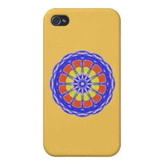 Colorful kaleidoscope circle pattern iPhone 4 case