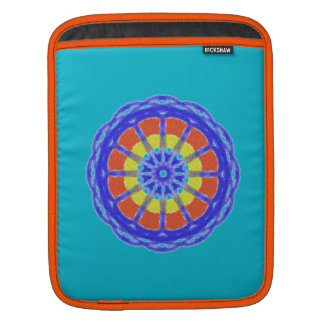 Colorful kaleidoscope circle pattern sleeve for iPads