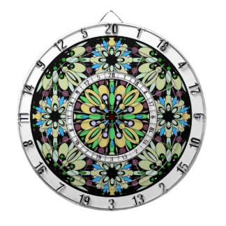 Colorful Kaleidoscope Design Dart Board