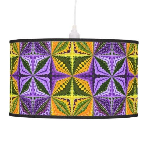 Colorful kaleidoscope hanging pendant lamp