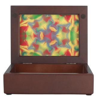Colorful kaleidoscope memory boxes