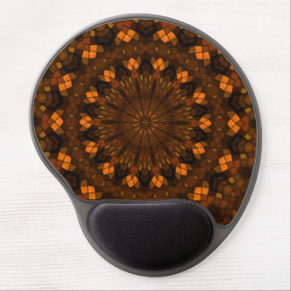 Colorful kaleidoscope mosaic gel mouse pad