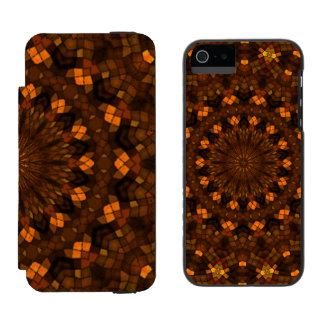 Colorful kaleidoscope mosaic iPhone SE/5/5s wallet case
