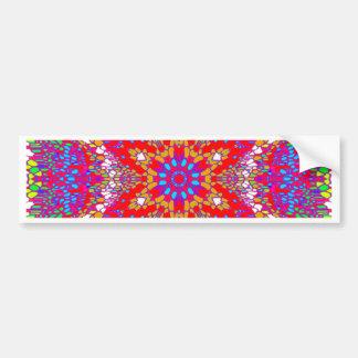 Colorful Kaleidoscope Pattern Bumper Sticker