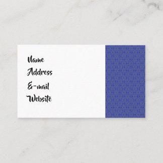 Colorful kaleidoscope pattern business card